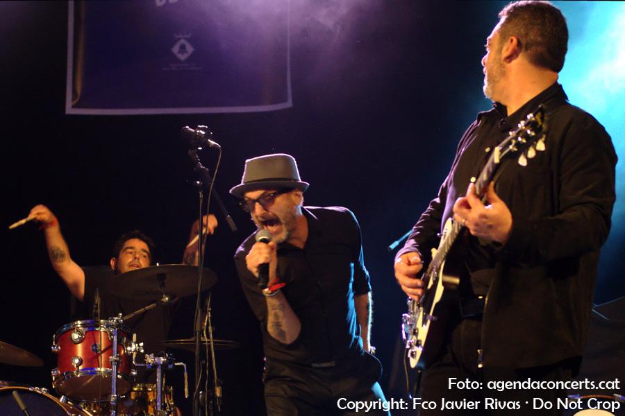 El grup de rock Doctor Enfermo, actuant a la Festa Major de Sant Boi de Llobregat 2017.