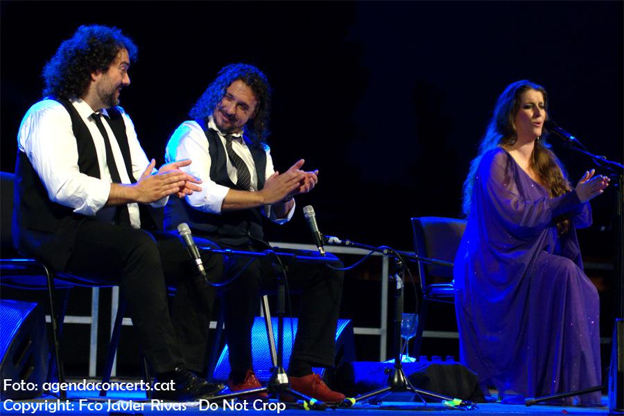 La cantant de flamenco Argentina, actuant a Sant Boi de Llobregat