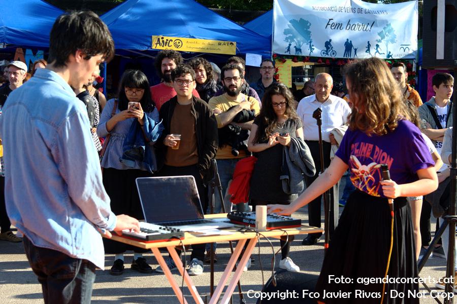Cabiria, actuant a l'Amic Fest 2017 de Cerdanyola del Vallès.