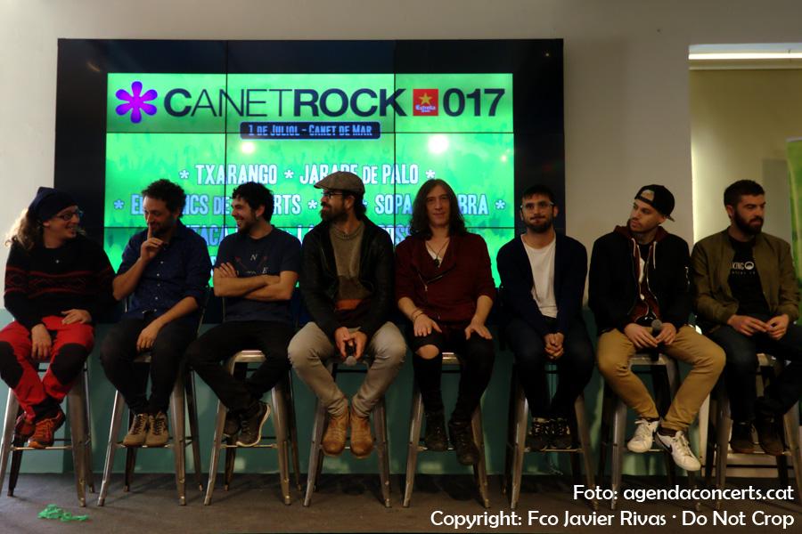 Presentació del Canet Rock 2017 a l'Antiga Fàbrica Damm de Barcelona.