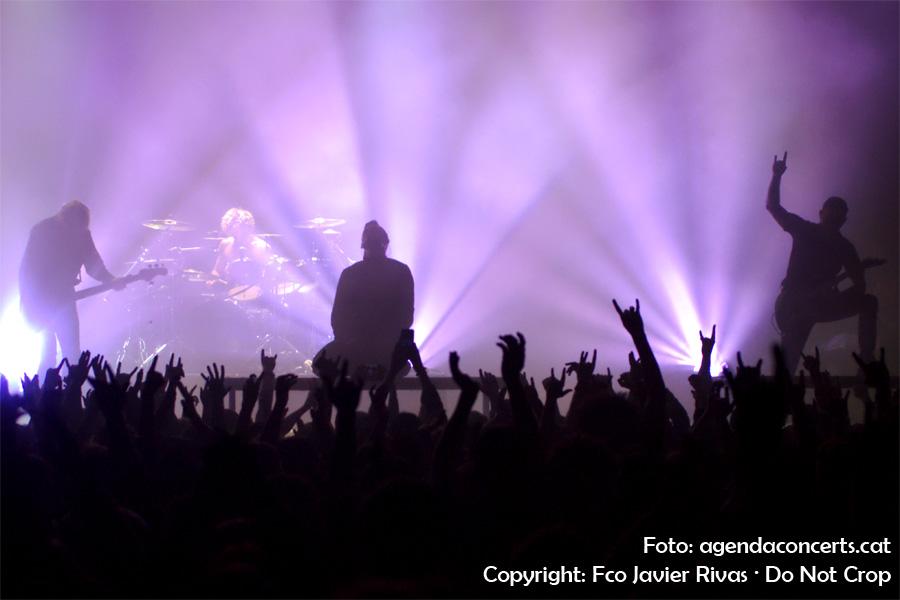 El grup Parkway Drive, actuant a la sala Razzmatazz de Barcelona.