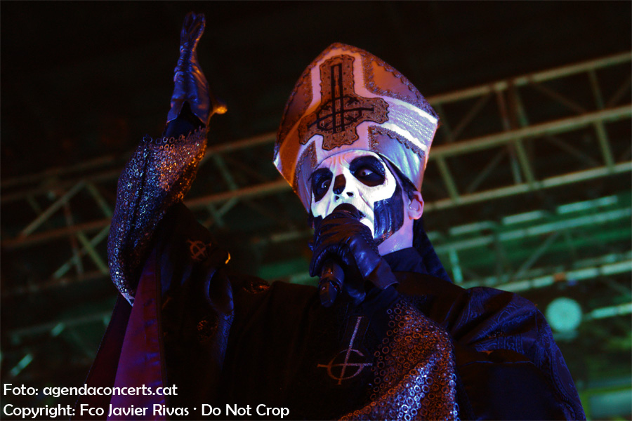 El grup Ghost presentant el disc 'Meliora' a la sala Razzmatazz de Barcelona.