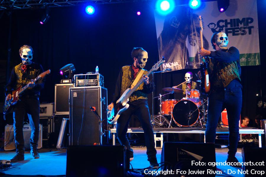 Los Tiki Phantoms, actuant al Chimp&Fest de Cornellà de Llobregat.