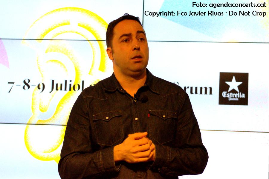Presentació del Festival Cruïlla 2017 a l'Antiga Fàbrica Damm. Jordi Herreruela (director del festival).