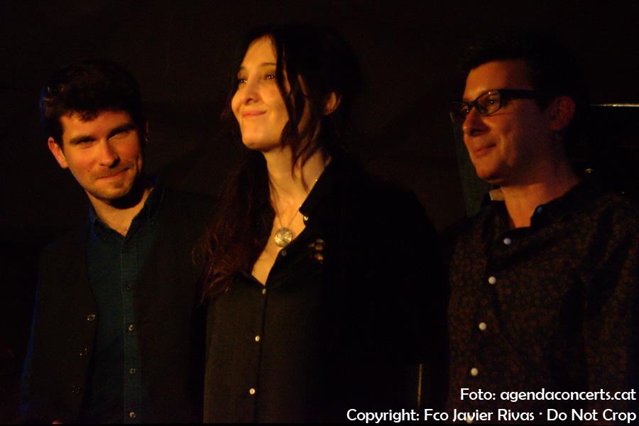 Giulia Valle Trio (Giulia Valle, Marco Mezquida i David Xirgu), acomiadant-se del públic Jamboree de Barcelona.