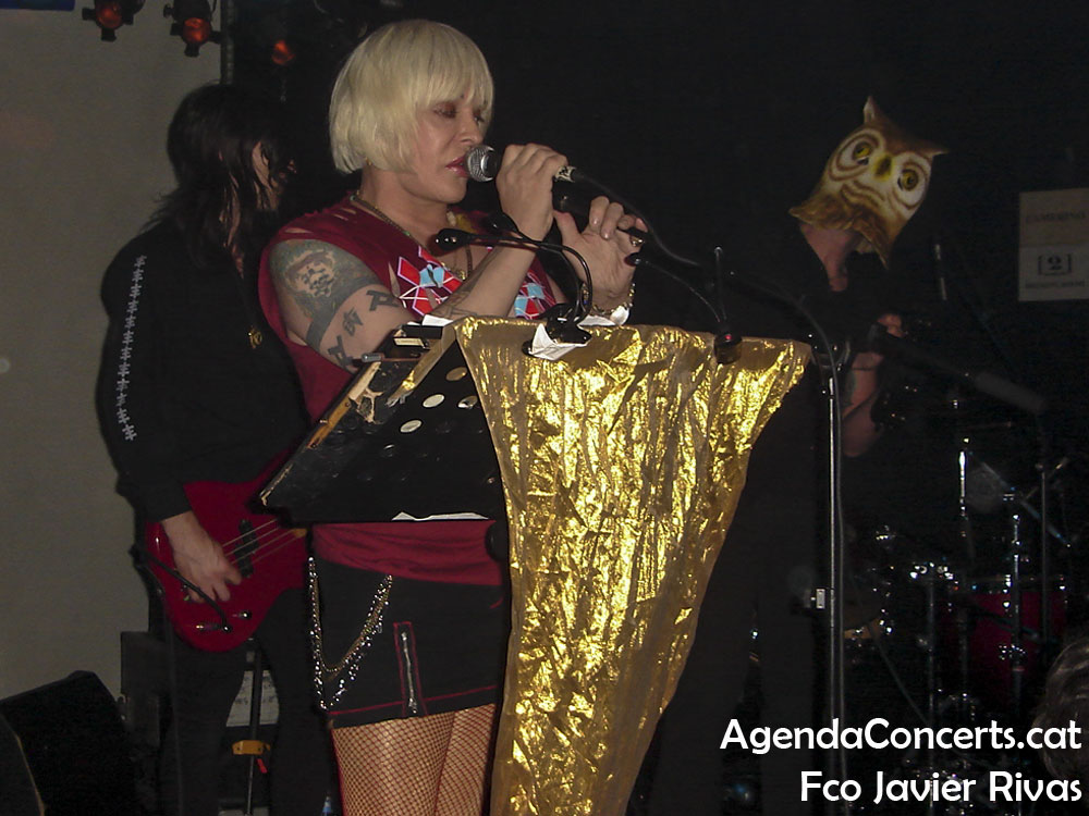 Psychic TV, performing at Sala Apolo 2 of Barcelona.