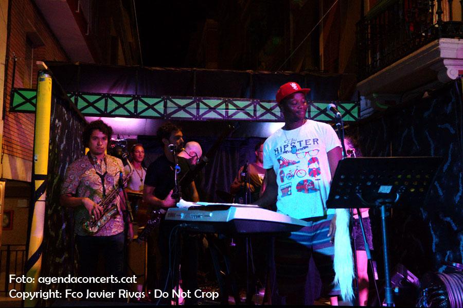 El grup Alma Afrobeat Ensemble, a la Festa Major de Gràcia 2016.