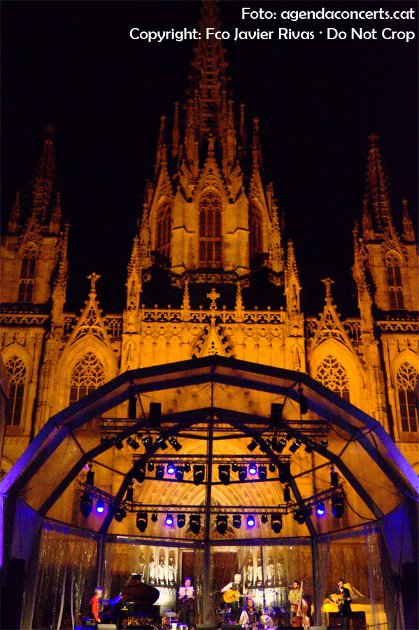 El cantant, guitarrista i pianista Alfonso de Vilallonga ha omplert l'Avinguda de la Catedral de Barcelona durant el seu concert programat a les festes de La Mercè 2016.