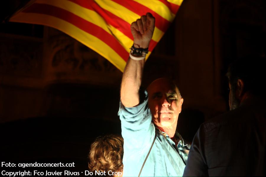 Lluís Llach, a la manisfestació del 20 de setembre (20-S) a Barcelona.