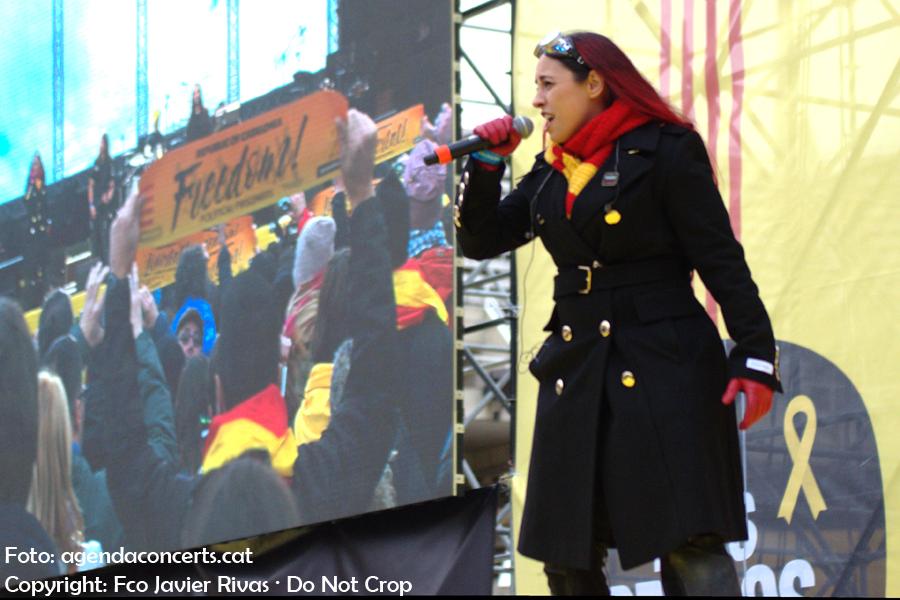 A Sound of Thunder, actuant al Concert per la Llibertat a l'Estadi Lluís COmpanys de Barcelona.