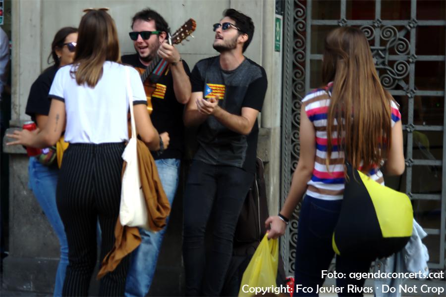 Ambient musical a la manifestació del 20-S a Barcelona.