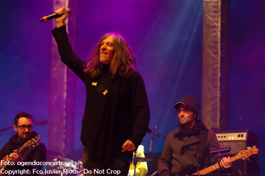 La Banda Impossible actuant al Concert per la Llibertat: Gerard Quintana.