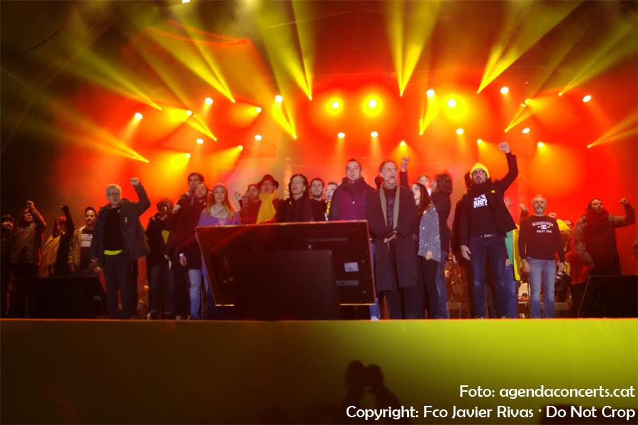 Fi del Concert per la Llibertat a l'Estadi Olímpic Lluís Companys de Barcelona.