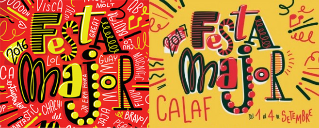 Extraña 'coincidencia' entre los carteles de las Fiestas Mayores de Sant Boi y Calaf