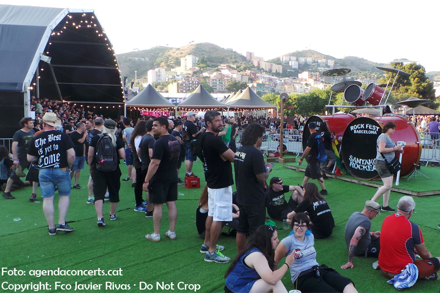 Music Festival madness during the Barcelona's July