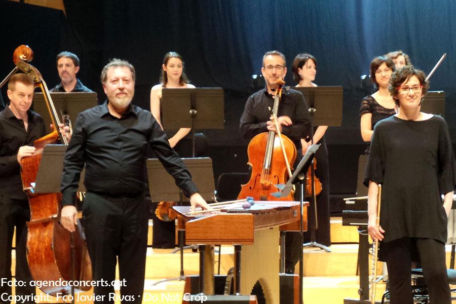 Brad Lubman i l'OBC, interpretant 'In C' de Terry Riley en l'inauguració del Sónar 2018 a L'Auditori de Barcelona.