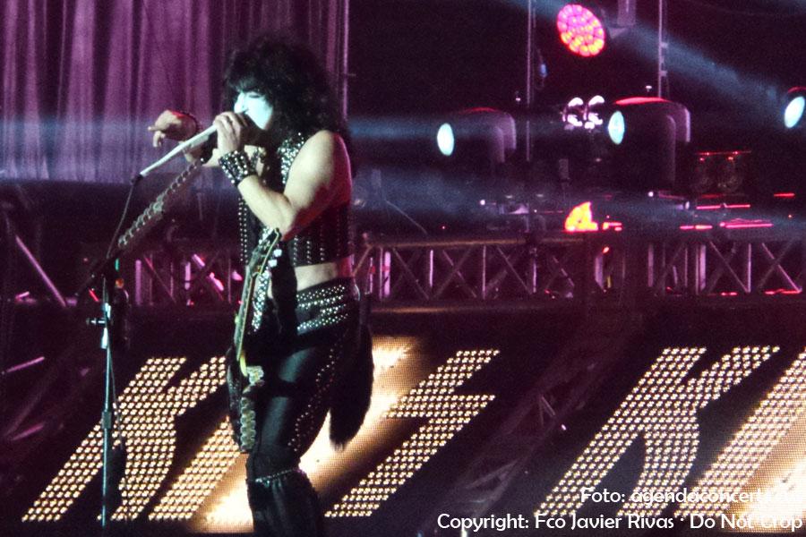 Kiss, actuant al Rock Fest Barcelona 2018.
