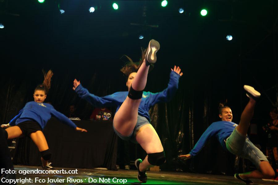 La Sant Boi Urban Dance (SBUD), actuant al Festival Altaveu 2018.