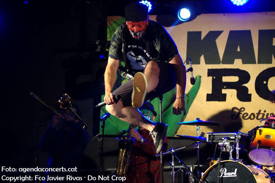 Muyayo Rif, actuant al Karxofa Rock Festival 2018 a Sant Boi de Llobregat.