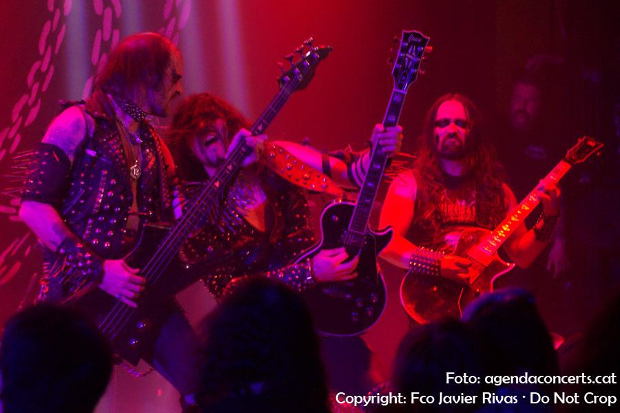 Nifelheim, actuant a la Sala Upload de Barcelona.