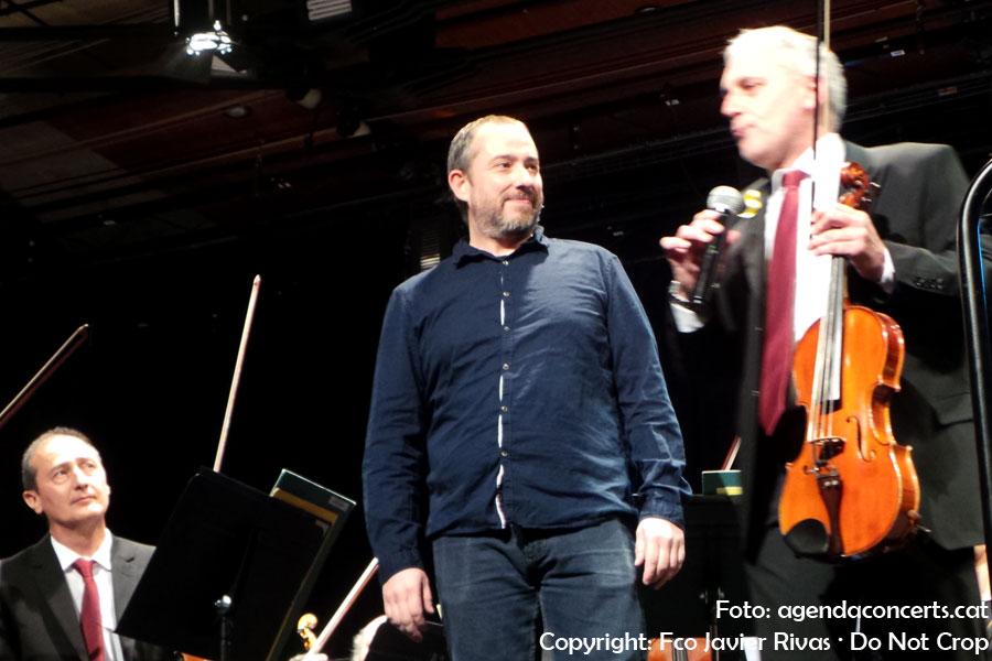 L'Orquestra Simfònica del Vallès, actuant al recinte de Can Massallera de Sant Boi de Llobregat.