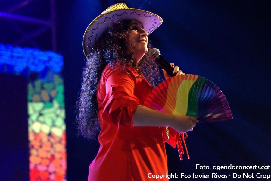 Camela, actuant al Pride Barcelona 2018.
