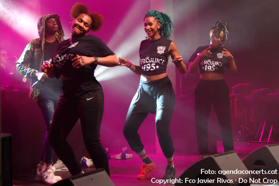Afrojuice 195, actuant al Festival Cara·B 2018