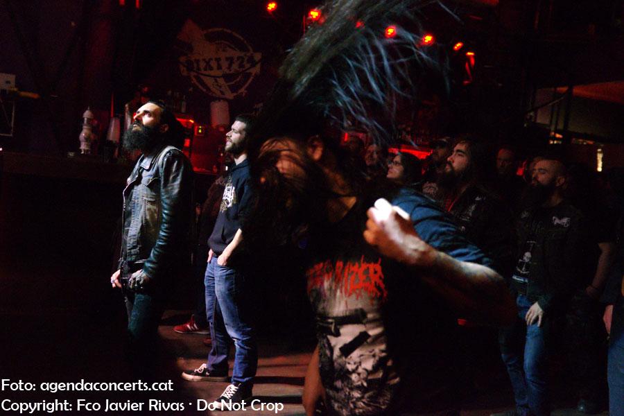 El grup de brutal death metal Monument of Misanthropy, actuant a la Sala Bóveda de Barcelona.