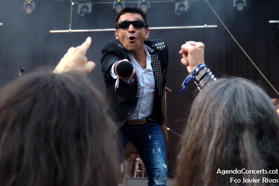 El grup 11 Bis, actuando en el Can Mercader Festival de Cornellà de Llobregat.