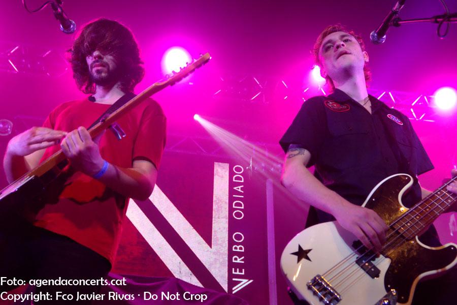 El Verbo Odiado, actuando en la Salamandra de L'Hospitalet de Llobregat en el marco del Let's Festival 2019.
