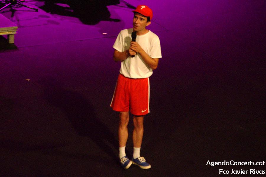 Ferran Palau, actuando en el Teatre Grec de Barcelona.