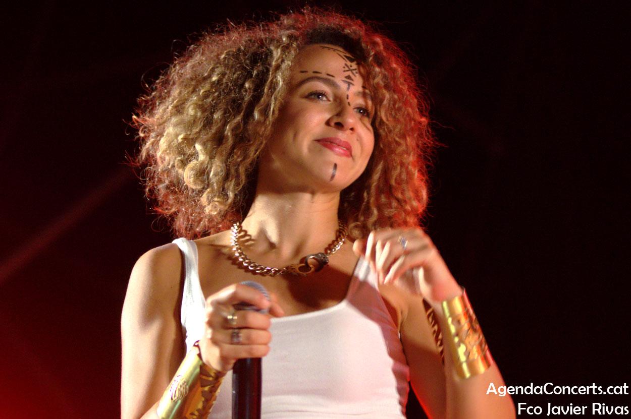 Malikah, actuando en el Festival BAM de Barcelona 2019.