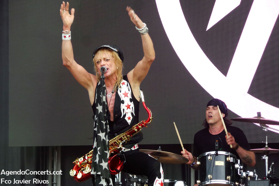 Michael Monroe, performing at Rock Fest Barcelona 2019.
