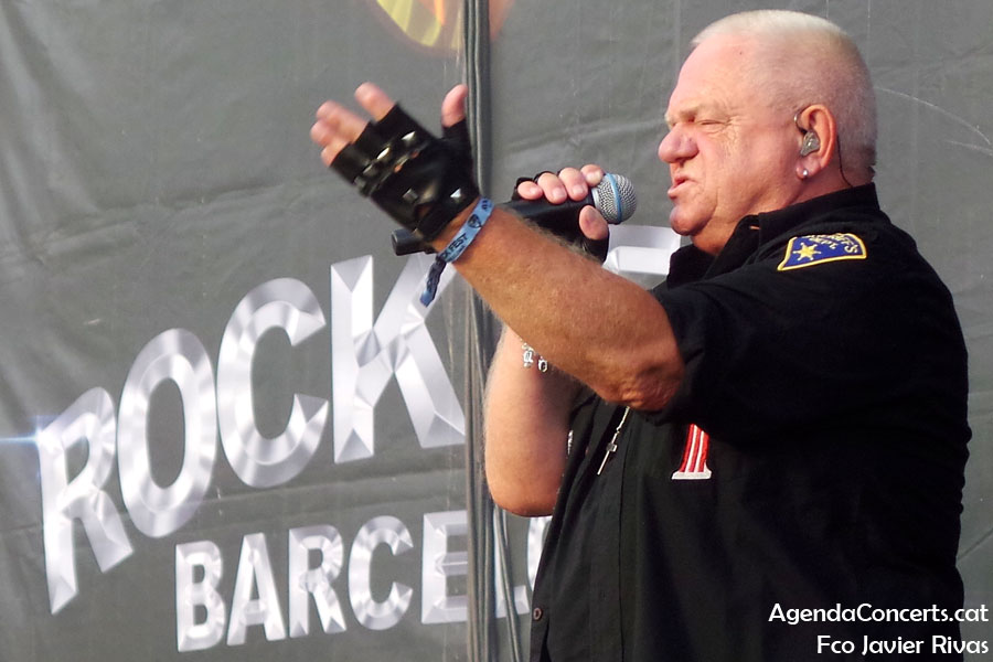 U.D.O., performing at Rock Fest Barcelona 2019.