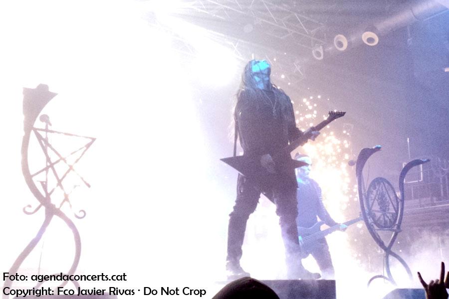 Behemoth, actuant a la sala Razzmatazz de Barcelona presentant 'I loved you at your darkest'