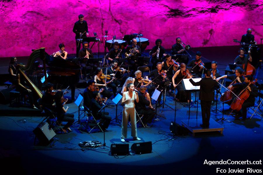 Judit Neddermann, actuant al Teatre Grec de Barcelona.