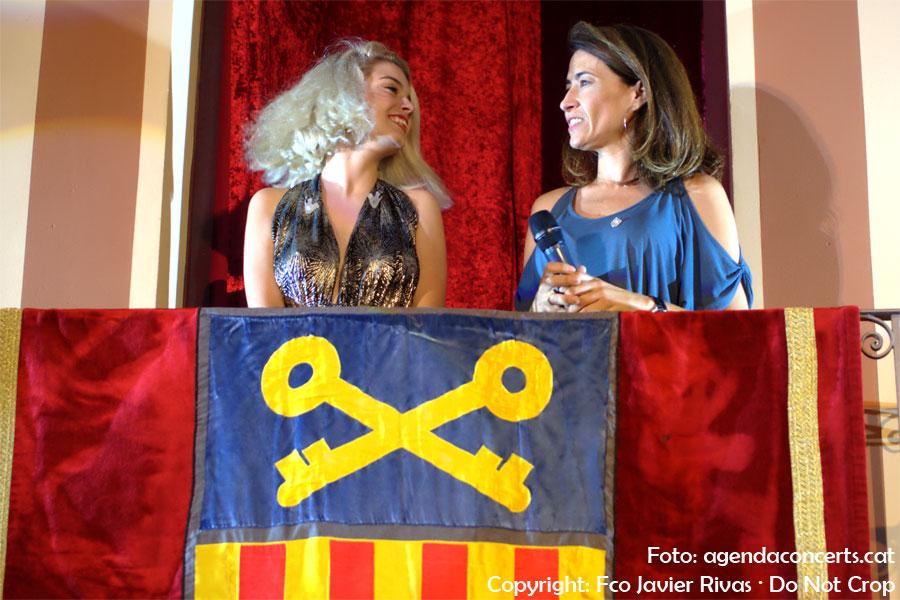 Nerea Rodríguez, actuando en el pregón de la Fiesta Mayor de Gavà 2019.