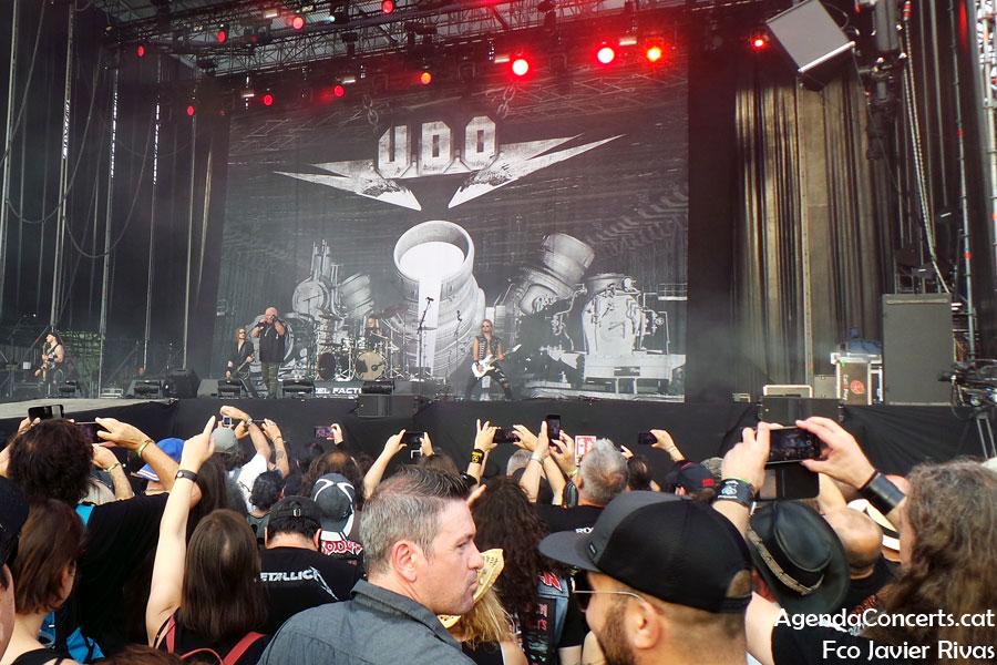 U.D.O., actuant al Rock Fest Barcelona 2019.