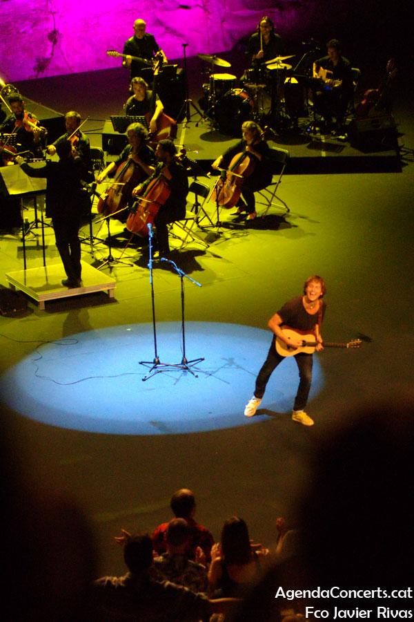 Ramon Mirabet, actuando en el Teatre Grec de Barcelona.