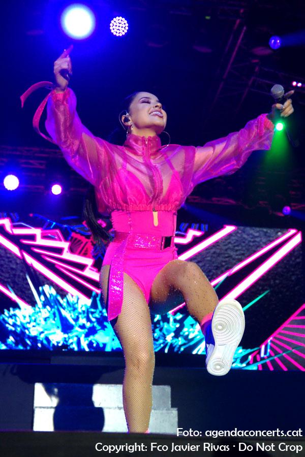 Becky G, actuando en el Share Festival 2019 de Barcelona.