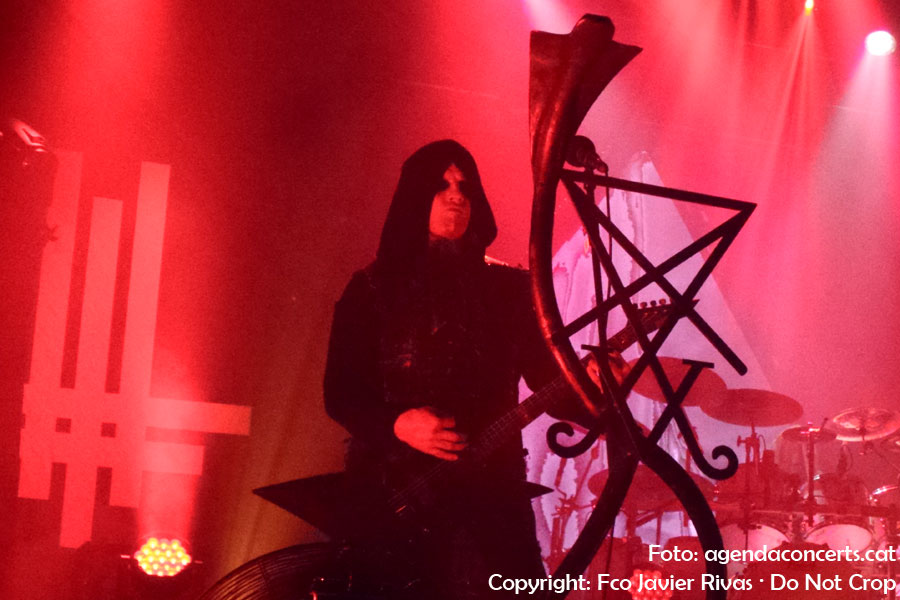 Behemoth, actuant a la sala Razzmatazz de Barcelona presentant 'I loved you at your darkest'