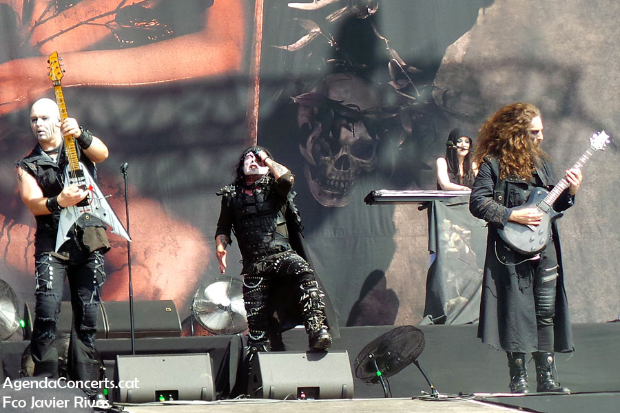 Cradle of Filth, performing at Rock Fest Barcelona 2019.