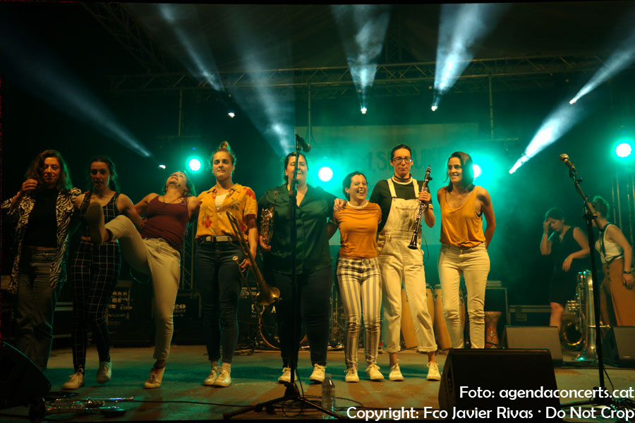 Balkan Paradise Orchestra, performing at Sant Boi de Llobregat.