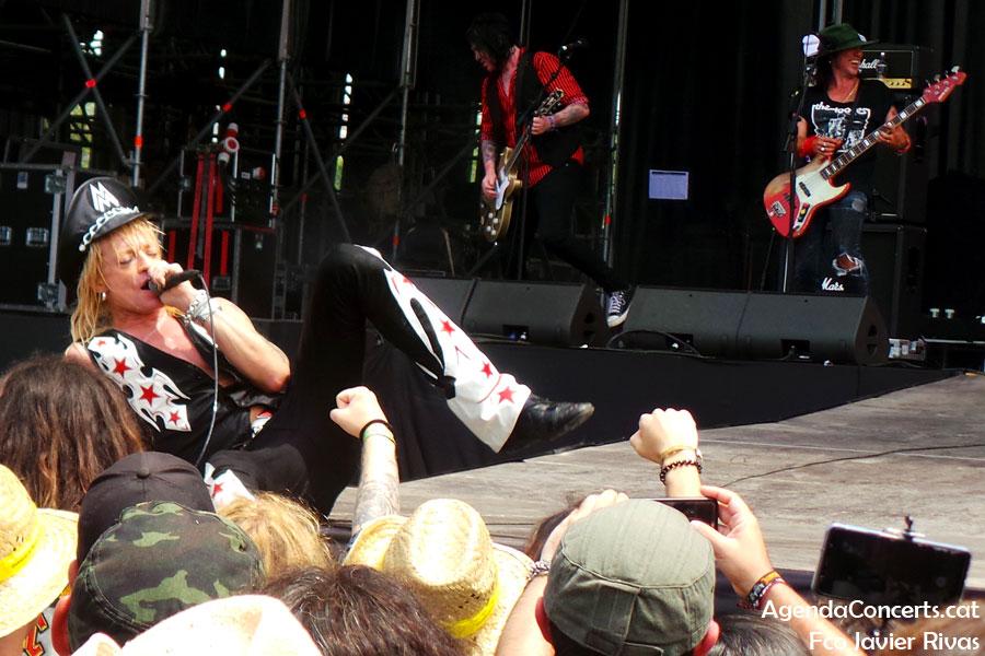 Michael Monroe, actuant al Rock Fest Barcelona 2019.