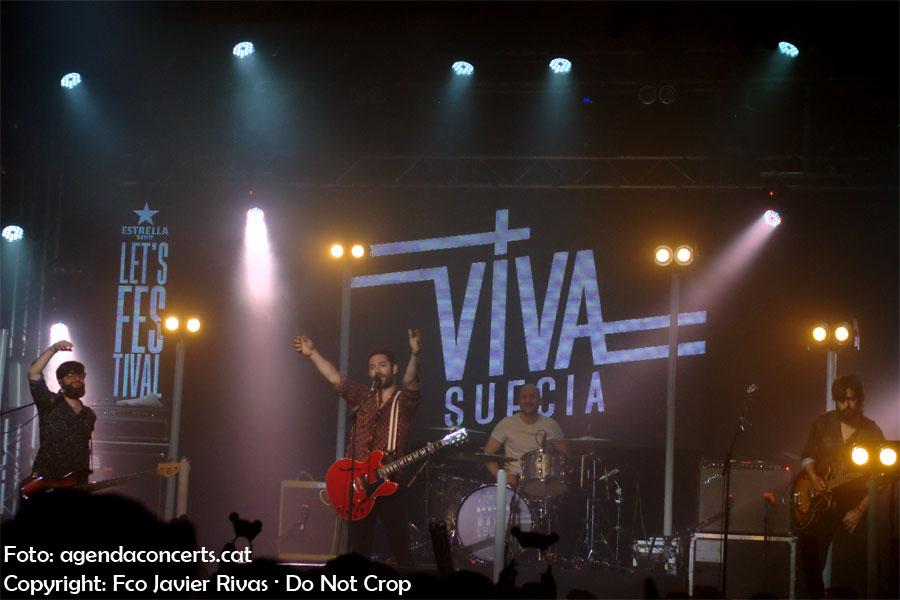 Viva Suecia, actuando en el Let's Festival 2019 de L'Hospitalet de Llobregat.